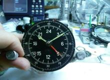 """Профилактика на самолетен часовник """"Часовой блок 55М"""""""
