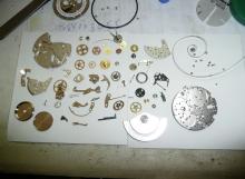 Профилактика на часовник ETA-7750